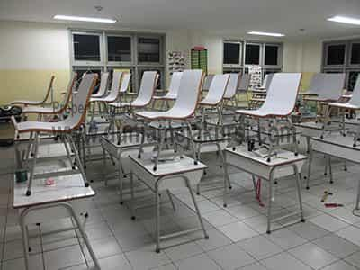 meja sekolah kokok dan custome warna