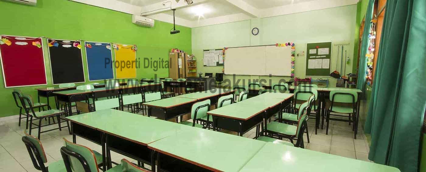 Meja Kursi Sekolah Modern Doble